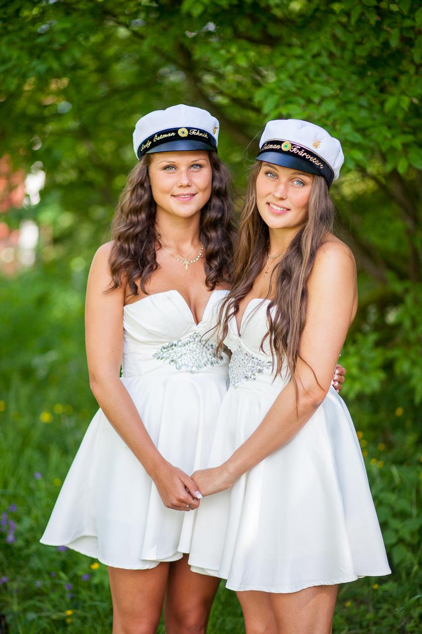 Cindy & Catrin - Studentfotografering i Borlänge